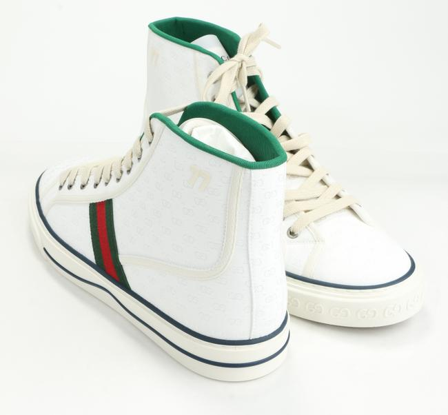 Gucci White Tennis 1977 High Top Sneakers Shoes Gucci White Tennis 1977 High Top Sneakers Shoes Image 3