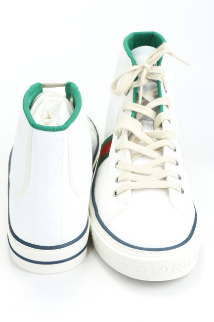 Gucci White Tennis 1977 High Top Sneakers Shoes Gucci White Tennis 1977 High Top Sneakers Shoes Image 4