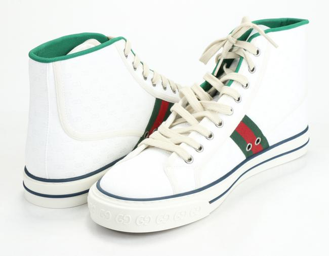 Gucci White Tennis 1977 High Top Sneakers Shoes Gucci White Tennis 1977 High Top Sneakers Shoes Image 5