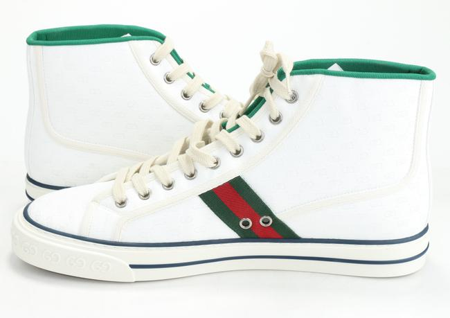 Gucci White Tennis 1977 High Top Sneakers Shoes Gucci White Tennis 1977 High Top Sneakers Shoes Image 6