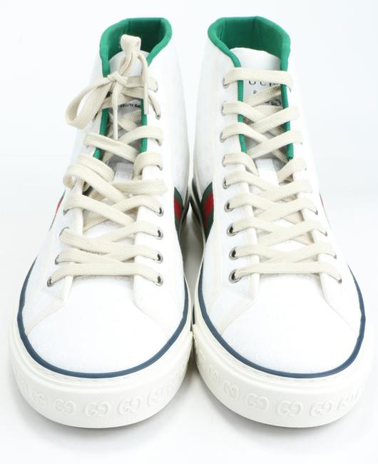 Gucci White Tennis 1977 High Top Sneakers Shoes Gucci White Tennis 1977 High Top Sneakers Shoes Image 7