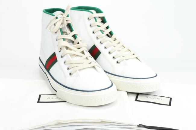 Gucci White Tennis 1977 High Top Sneakers Shoes Gucci White Tennis 1977 High Top Sneakers Shoes Image 10