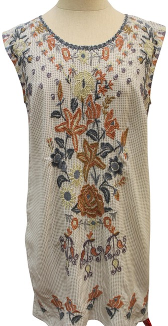 Item - Multicolor Yvonne Embroidered Tunic Blouse Top Short Casual Dress Size 4 (S)