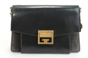 Item - Two-toned Small Gv3 Black Suede Leather Shoulder Bag