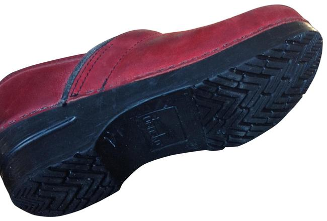 Item - Red Smooth Leather Mules/Slides Size EU 36 (Approx. US 6) Regular (M, B)