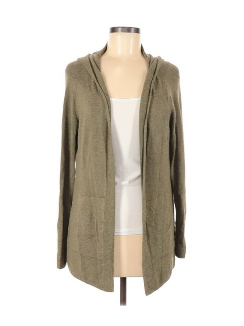 Item - Hooded Cardigan Olive Green Sweater