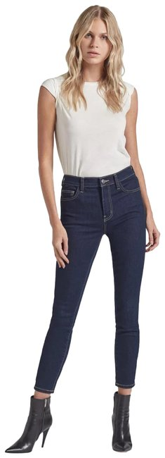 Item - Blue Dark Rinse The High Waist Stiletto In 0 Clean Stretch Indigo Skinny Jeans Size 23 (00, XXS)