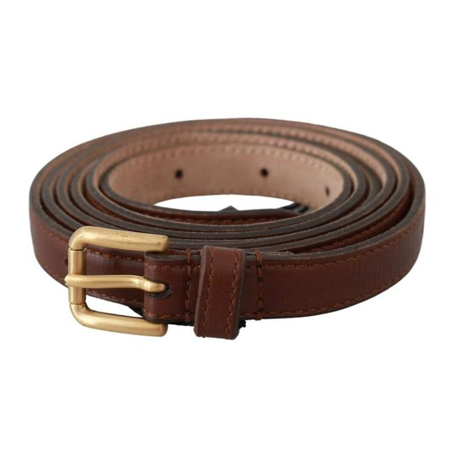 Item - Brown Leather Gold Double Wrap Waist Belt