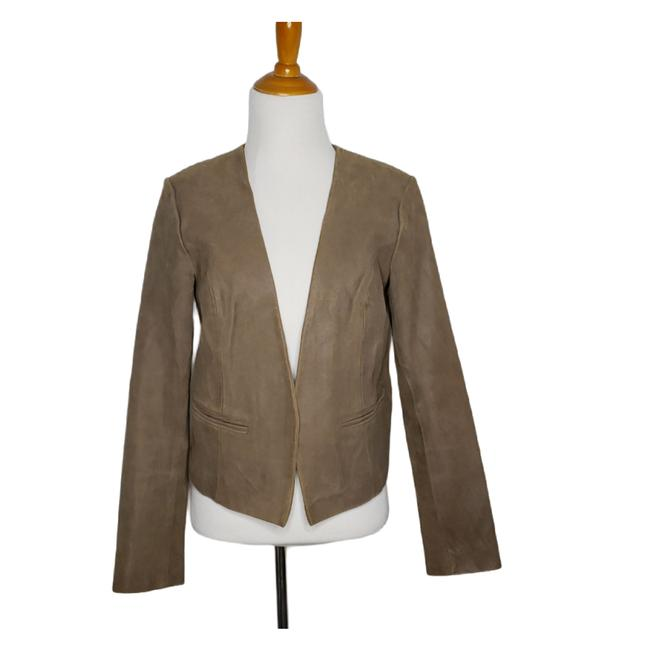 Item - Tan Open Front Cropped Fitted Tailored Women Small Jacket Size 4 (S)