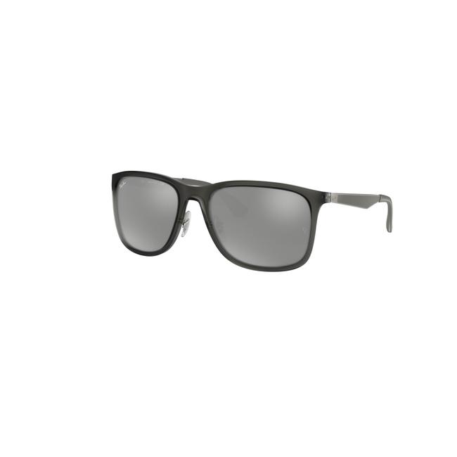 Ray-Ban Grey Transparent Frame & Mirrored / Gradient Lens Rb4313 637988 58 Square Unisex Sunglasses Ray-Ban Grey Transparent Frame & Mirrored / Gradient Lens Rb4313 637988 58 Square Unisex Sunglasses Image 1