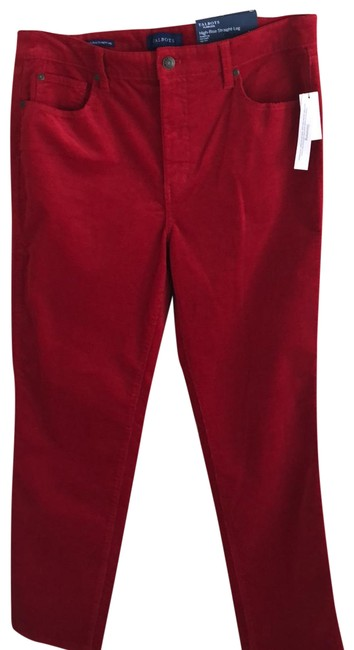 Item - Red Flawless Slimming High-rise Pants Size Petite 12 (L)
