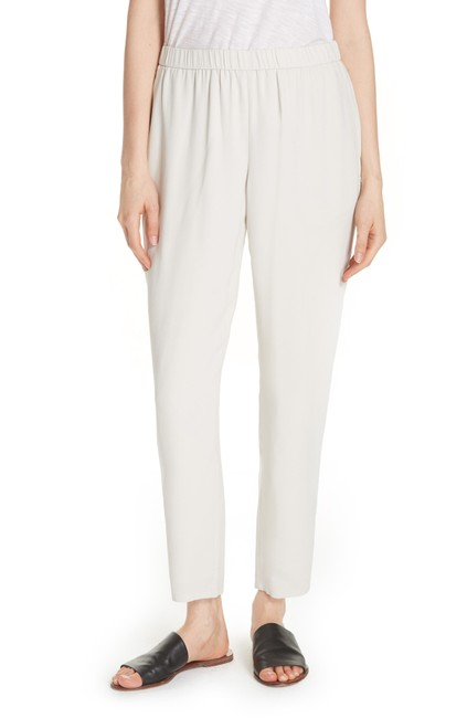 Item - Bone Slouchy Silk Crepe Ankle Pants Size 18 (XL, Plus 0x)