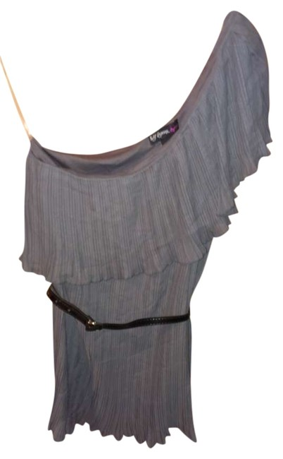 Self Esteem One Shoulder Top Grey