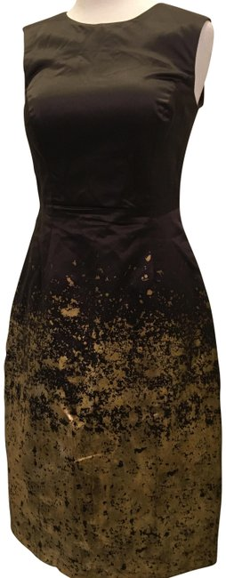 Item - Brown/Gold Nori Mid-length Cocktail Dress Size 6 (S)