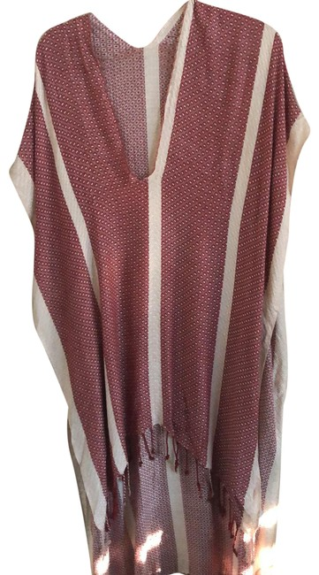 Item - Red/Ivory Rn #66170 Poncho/Cape Size OS (one size)