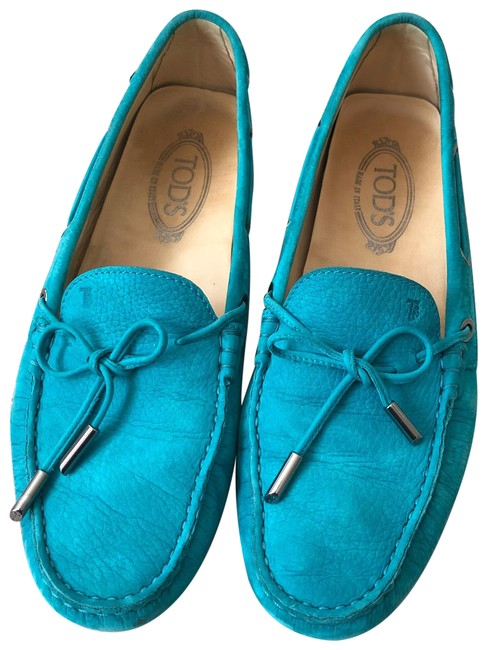 Item - Turquoise Gommini Suede Loafers Flats Size EU 41.5 (Approx. US 11.5) Regular (M, B)