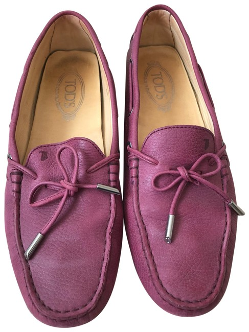Item - Purple Gommini Leather Loafers Flats Size EU 41 (Approx. US 11) Regular (M, B)