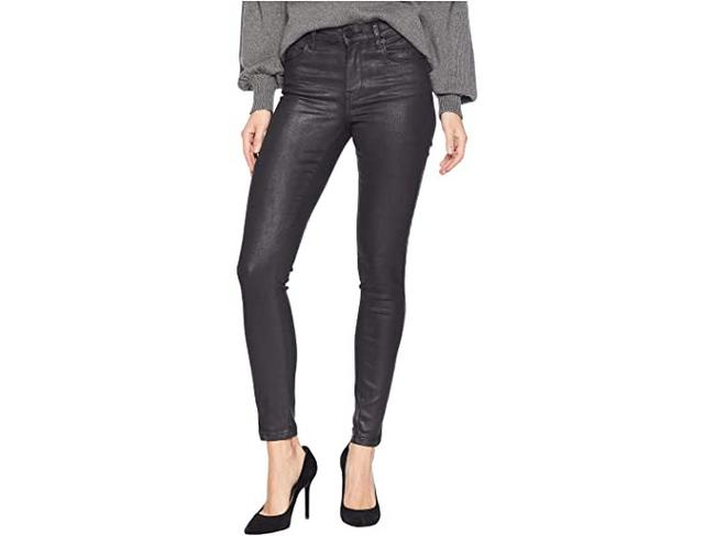 Item - Black Coated The Bond Mid Rise Faux Leather Skinny Jeans Size 4 (S, 27)