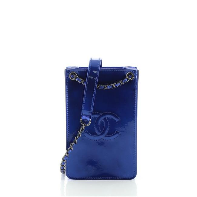 Item - Blue Crossbody Cc Phone Holder Bag Patent Tech Accessory