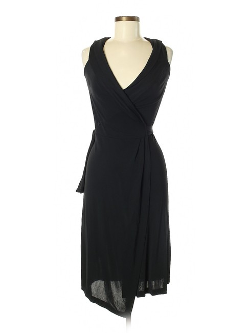 Item - Black Wrap Short Night Out Dress Size 6 (S)