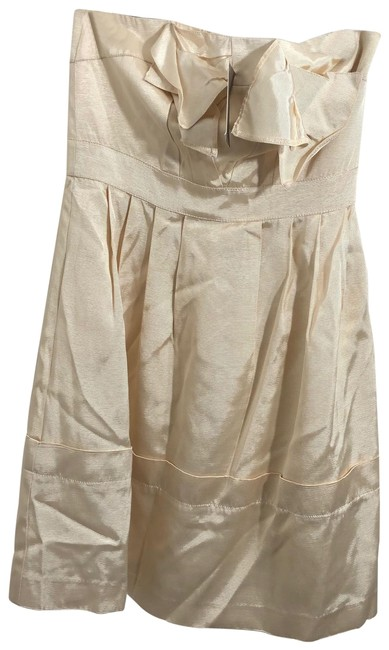 Item - Nude New Blushing Faille Short Cocktail Dress Size 6 (S)