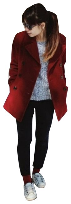 Item - Red Double Breasted Maroon Coat Size Petite 10 (M)