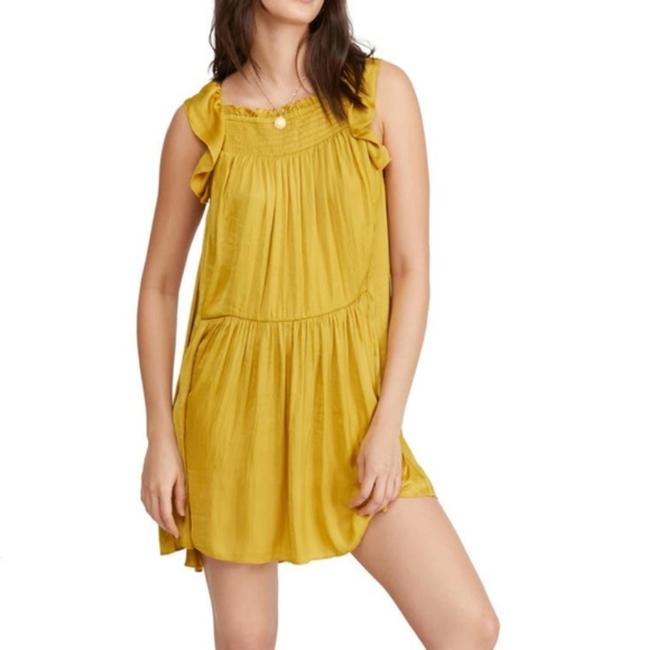 Item - Gold Want Your Love Minidress Short Casual Dress Size 6 (S)