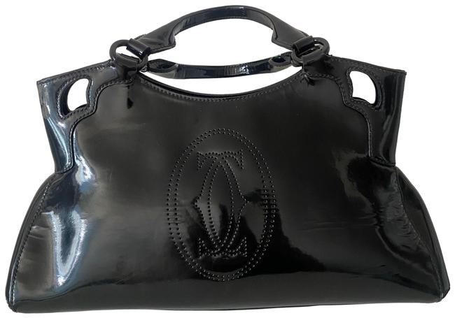 Item - Marcello Small Model Black Patent Leather Satchel