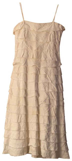 Item - White Tiered Skinny Strap Mid-length Night Out Dress Size 2 (XS)