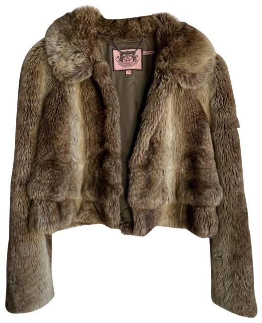 Item - Brown Cropped Ruffle Fox Jacket Coat Size 6 (S)