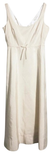 Item - Ivory Cream Color Occasion Long Formal Dress Size 10 (M)