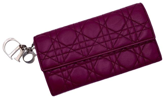 Item - Miss Channage Patent Wallet/Wristlet Plum Lambskin Leather Wristlet