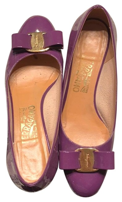 Item - Purple Vara Bow Pumps Size EU 36 (Approx. US 6) Regular (M, B)