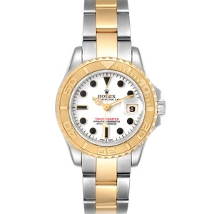 Item - White Yachtmaster 29mm Dial Steel Yellow Gold Ladies 16962 Watch