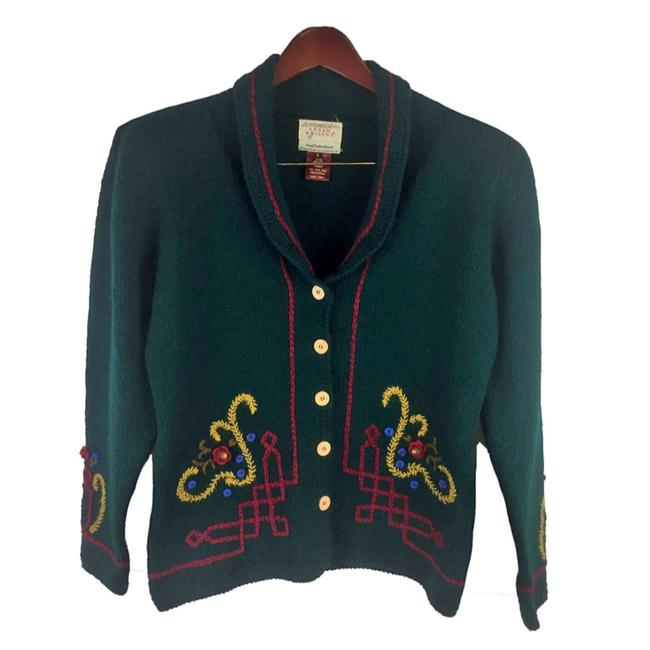 Item - Green Yellow Red Women's Cardigan Size 6 (S)