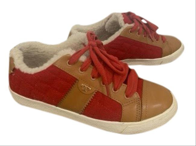 Item - Red Tan Wool Shearling Lined Sneakers Size US 7.5 Regular (M, B)