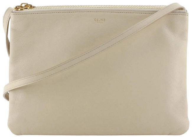 Item - Trio Large Neutral Leather Cross Body Bag