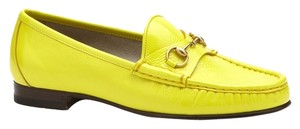 Gucci Yellow Italy Fashion Lime Aced Flats