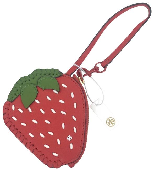 Item - Red Strawberry Coin Pouch Key Fob Wallet