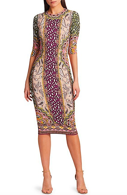 Item - Multi with Tag Delora Knit Bodycon Mid-length Night Out Dress Size 4 (S)
