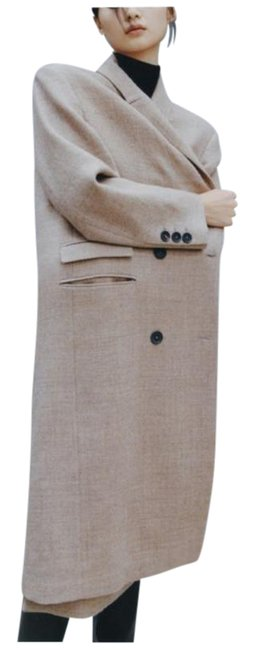 Item - Brown Tan Masculine Double Breasted Wool M Coat Size 8 (M)