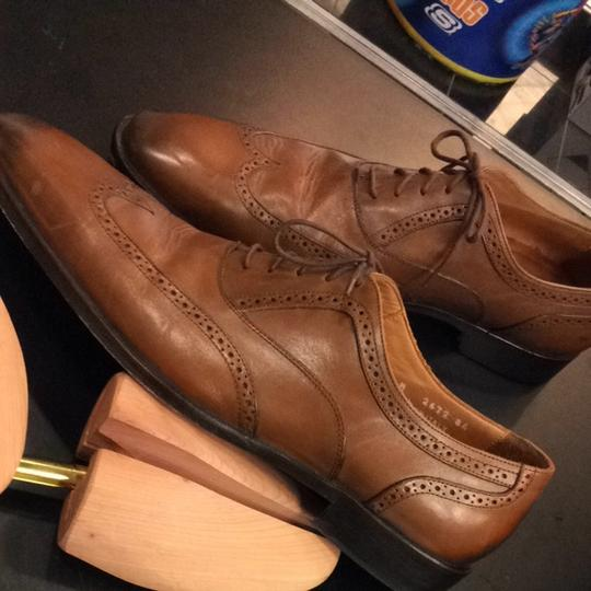 Broletto Mens 12 Brown Italian Leather Shoes