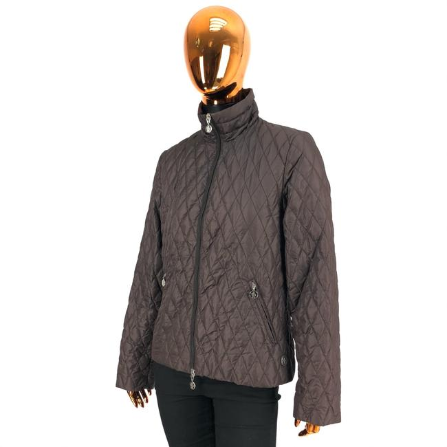 Item - Brown W Womens Polyester Quilted Logo Jacket Size 12 (L)