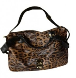Kardashian Kollection Satchel in Brown Leopard