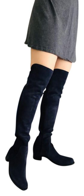 Item - Navy Blue The Reserve Suede with Stretch Elastic Back Medium Boots/Booties Size US 7 Regular (M, B)