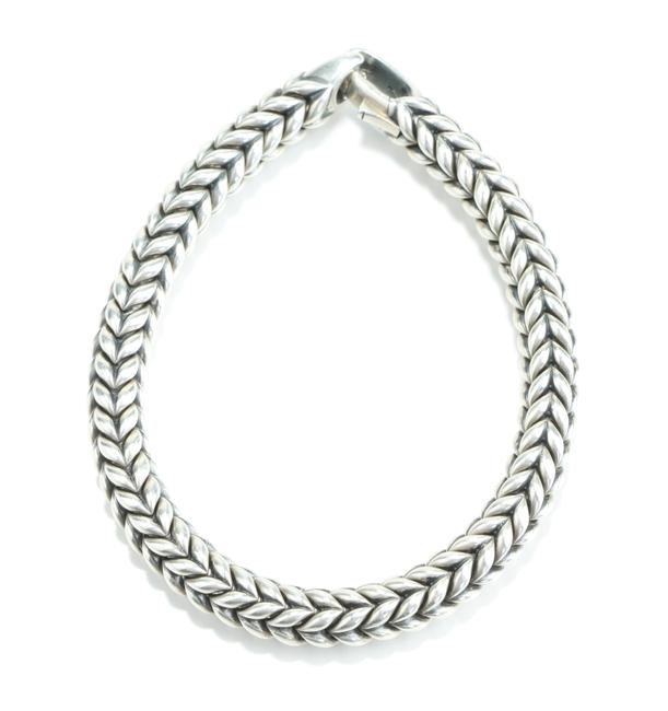 Item - Silver Chevron Bracelet Men's Jewelry/Accessory