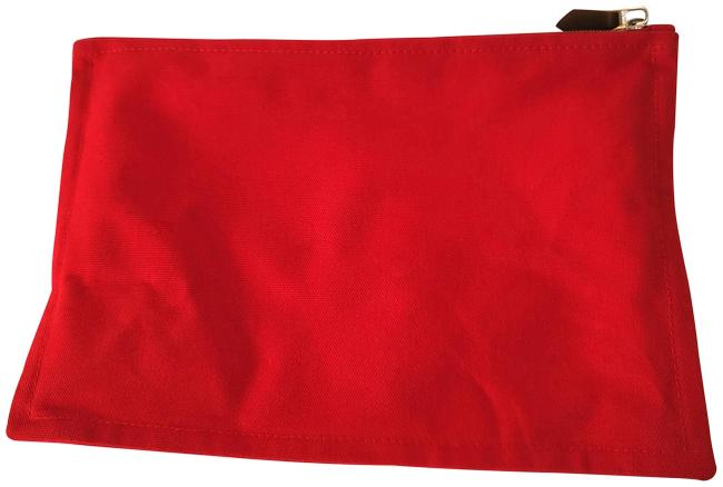 Item - Pouch Red Cotton Clutch