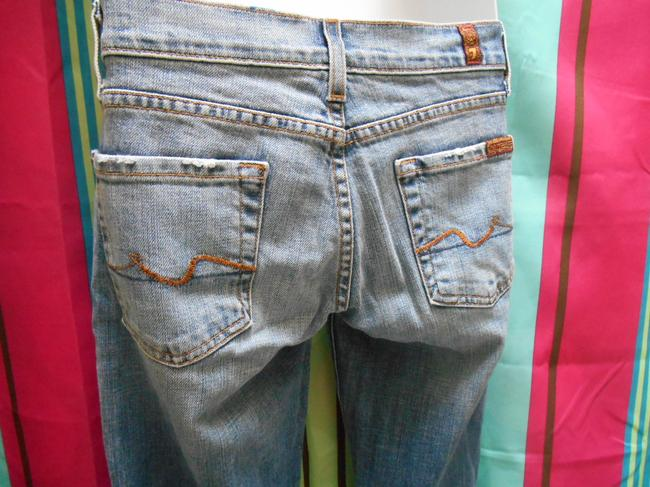 7 For All Mankind Shorts To Be Denim Small Boot Cut Jeans-Distressed