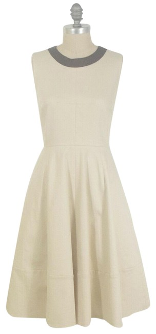 Item - Beige Fit & Flare Short Casual Dress Size 6 (S)