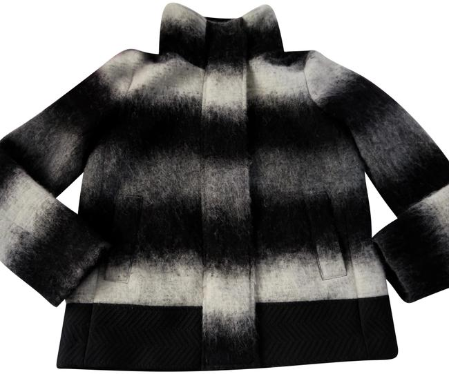 Item - Ombré Striped Wool Blend Coat Size 8 (M)